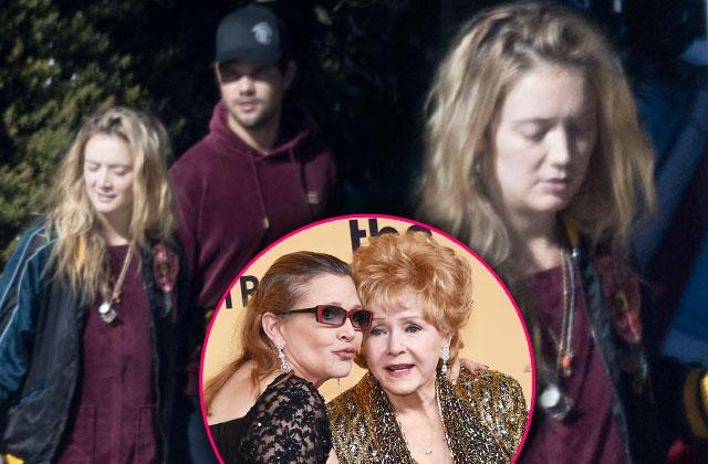//billie lourd mother carrie fisher death taylor lautner pp