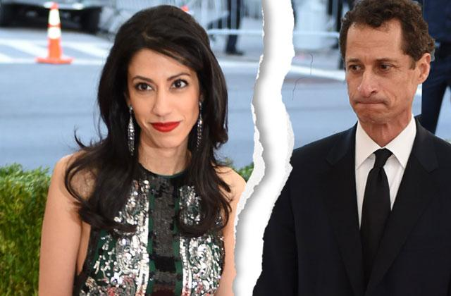 //Anthony weiner sexting scandal huma abedin separate divorce pp