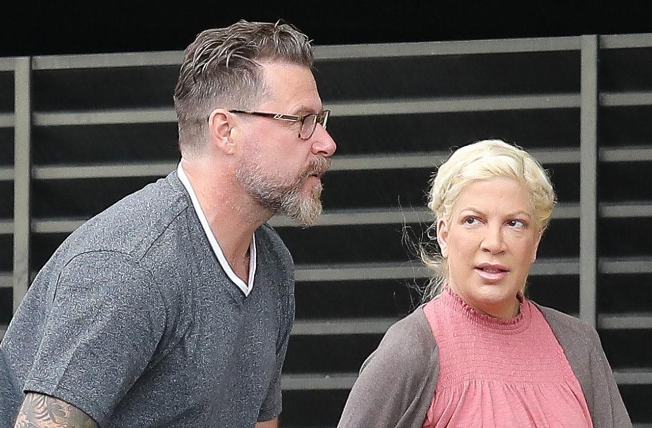 //tori spelling demand dean mcdermott job lazy feud financial crisis pp