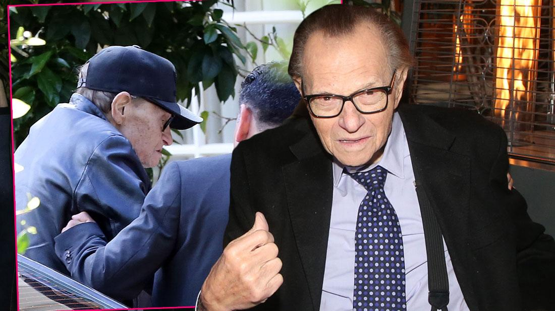 Inset Larry King Coming Home From The Hospital, Larry King at Friar's Club Dinner For His Birthday- Larry King Admits He Was In A Coma For A 'Couple Of Weeks' After Massive Stroke