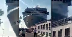 Cruise Ship Hits Tourist Boat In Venice Italy