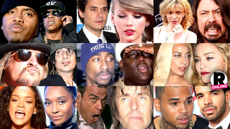 //biggest music feuds of all time pp sl