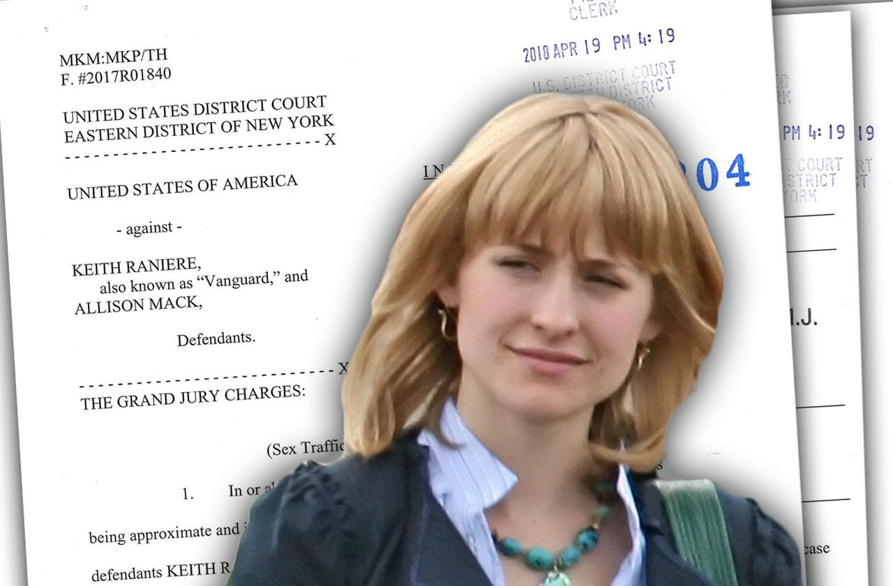 Allison Mack Arrested Indictment Cult Sex Slaves