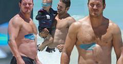 chris pratt shirtless beach body pics