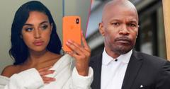 Top, Jamie Foxx poses for the camera; bottom, Sela Vave takes a selfie.