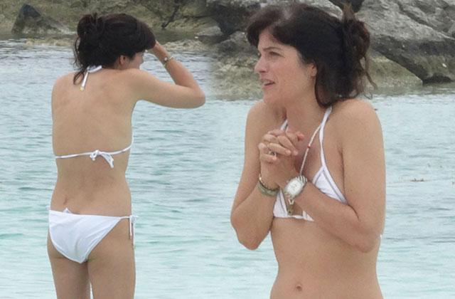 //Selma Blair Bikini White Cold pp
