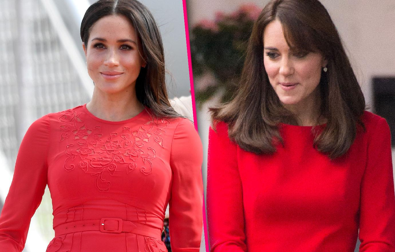 Palace Insiders Claim Meghan Markle Is Copying Kate Middleton's Fashion