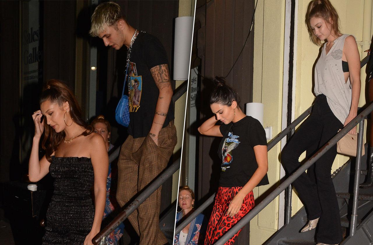 Kendall Jenner Anwar Hadid Night Out