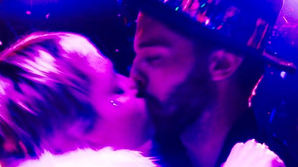 Miley Cyrus and Patrick Schwarzenegger New Year's Kiss