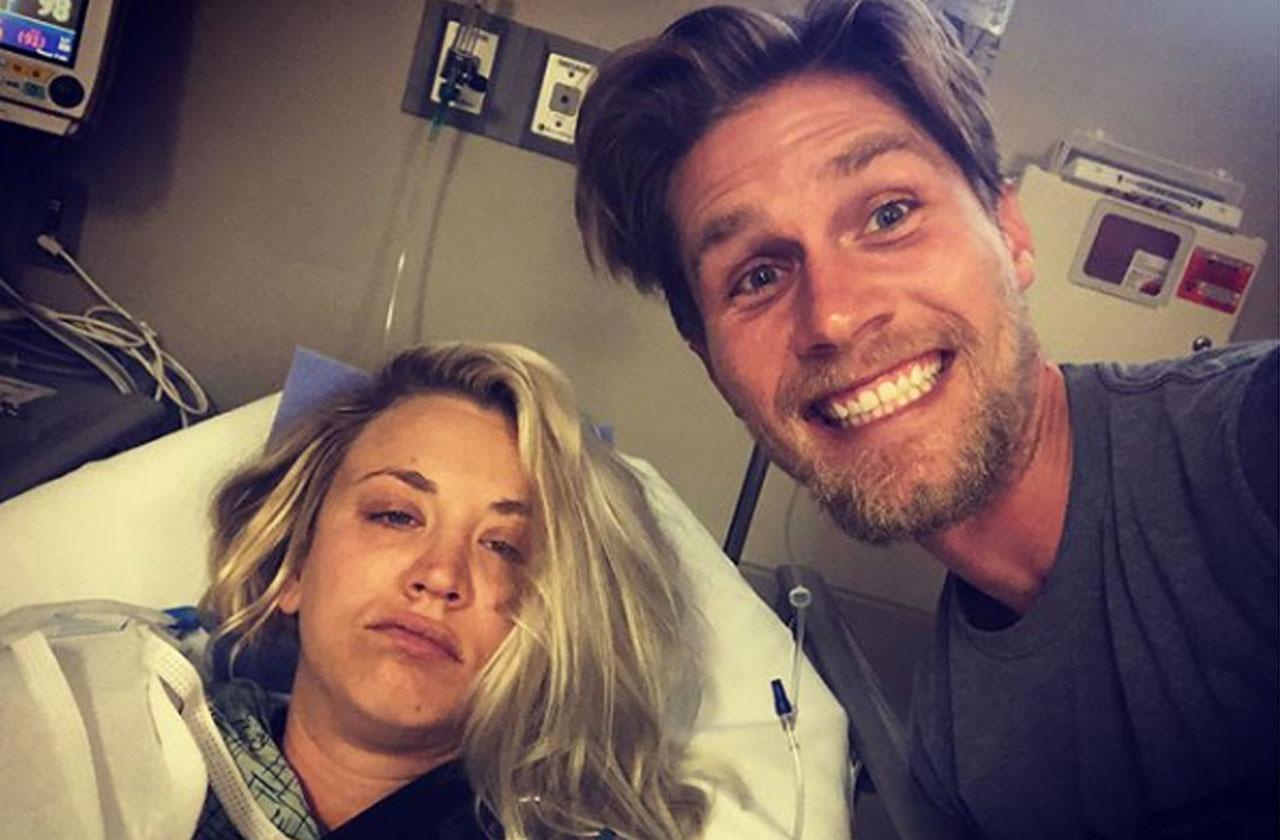 Kaley Cuoco Shoulder Surgery Honeymoon