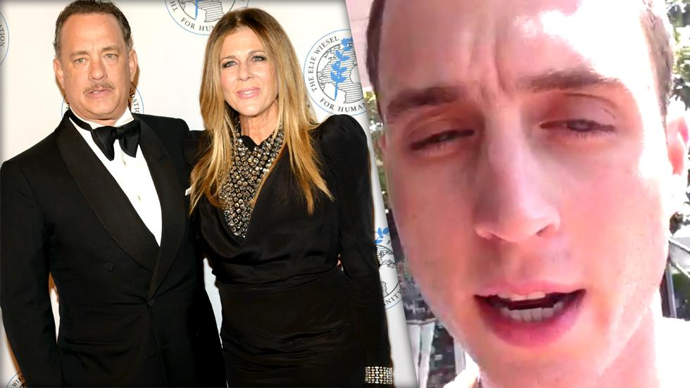 //tom hanks rita wilson embarrassed rapper son chester hanks chet haze pp sl