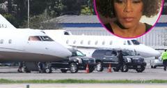 //whitney houston body private plane inf_