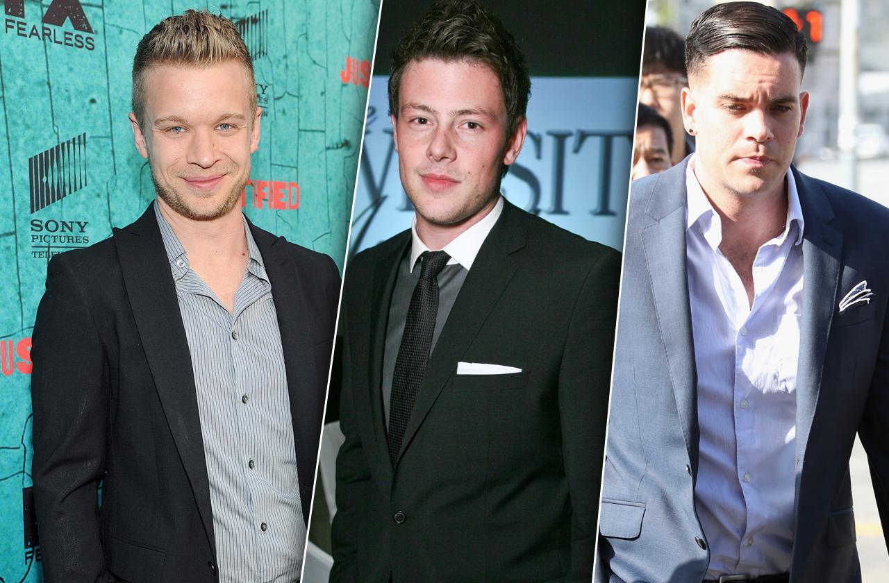Glee Curse Lea Michele Mark Salling Cory Monteith Jesse Luken