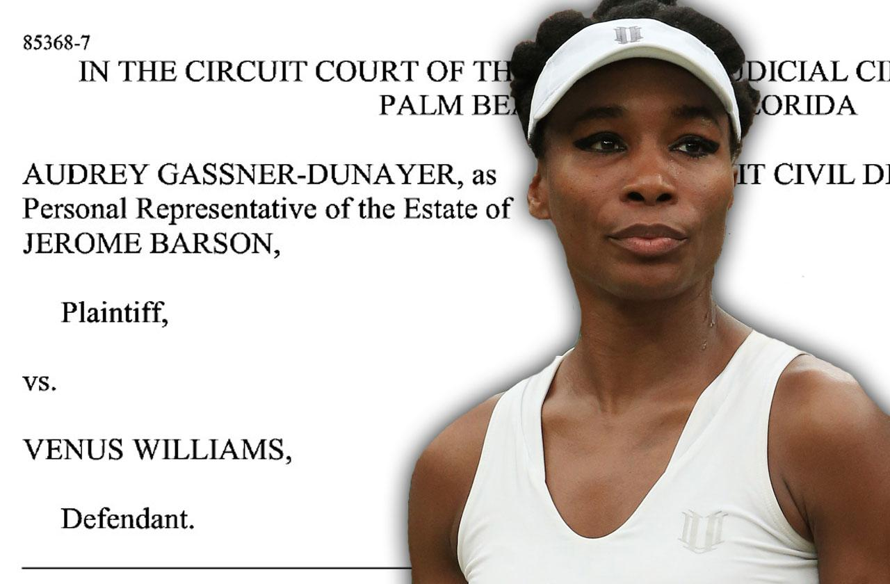 venus williams fatal car accident wrongful death lawsuit phone records