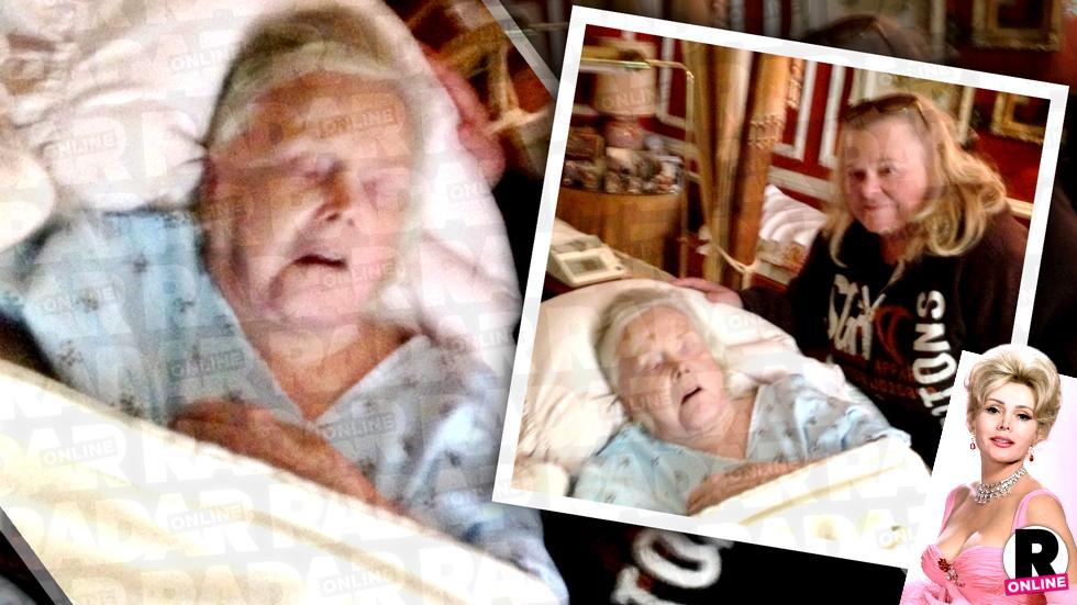 zsa zsa gabor death bed photos