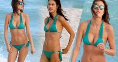 Alessandra Ambrosio Teal Bikini
