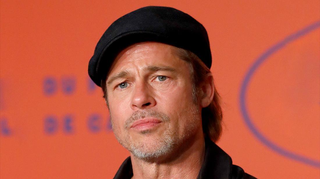 Brad Pitt Closeup Looking Serious