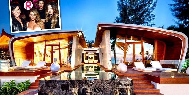 //kardashian thailand iniala over the top beach house palace wide