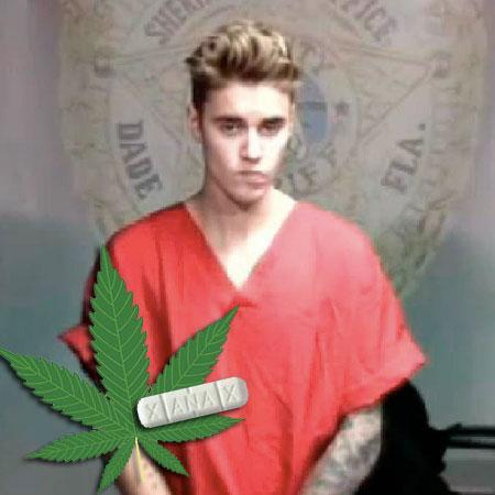 //justin bieber xanax weed pp