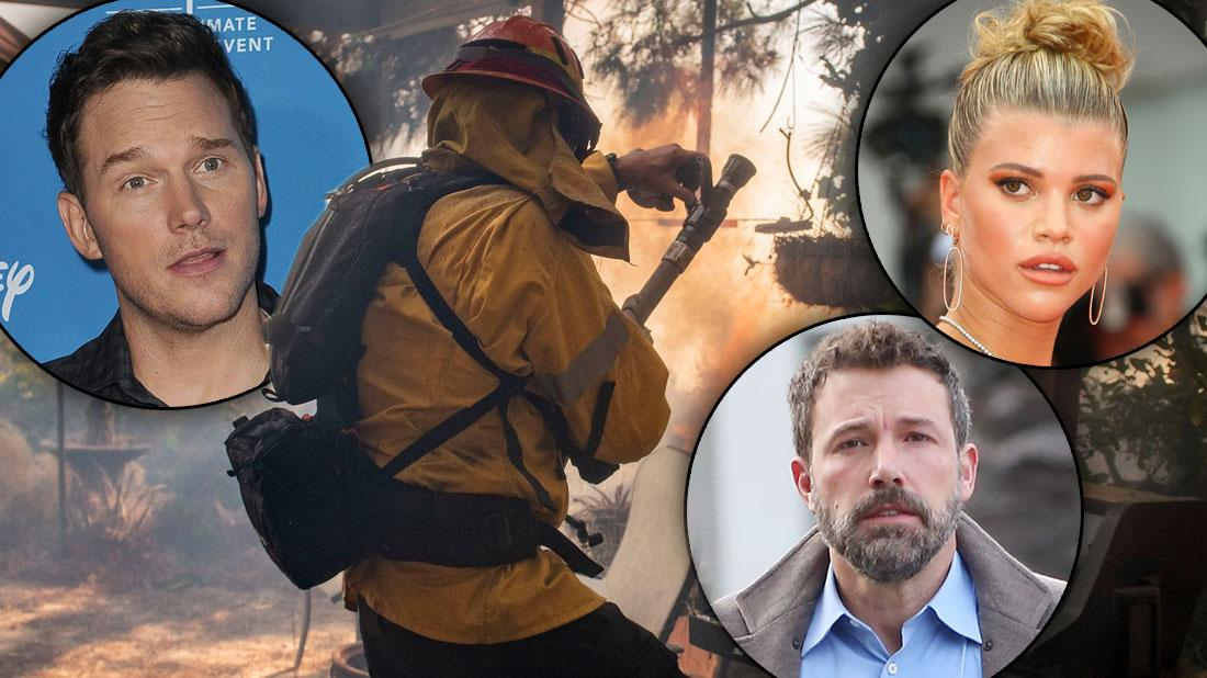 Celebrities In Danger As California Wild Fire Grows: Photos