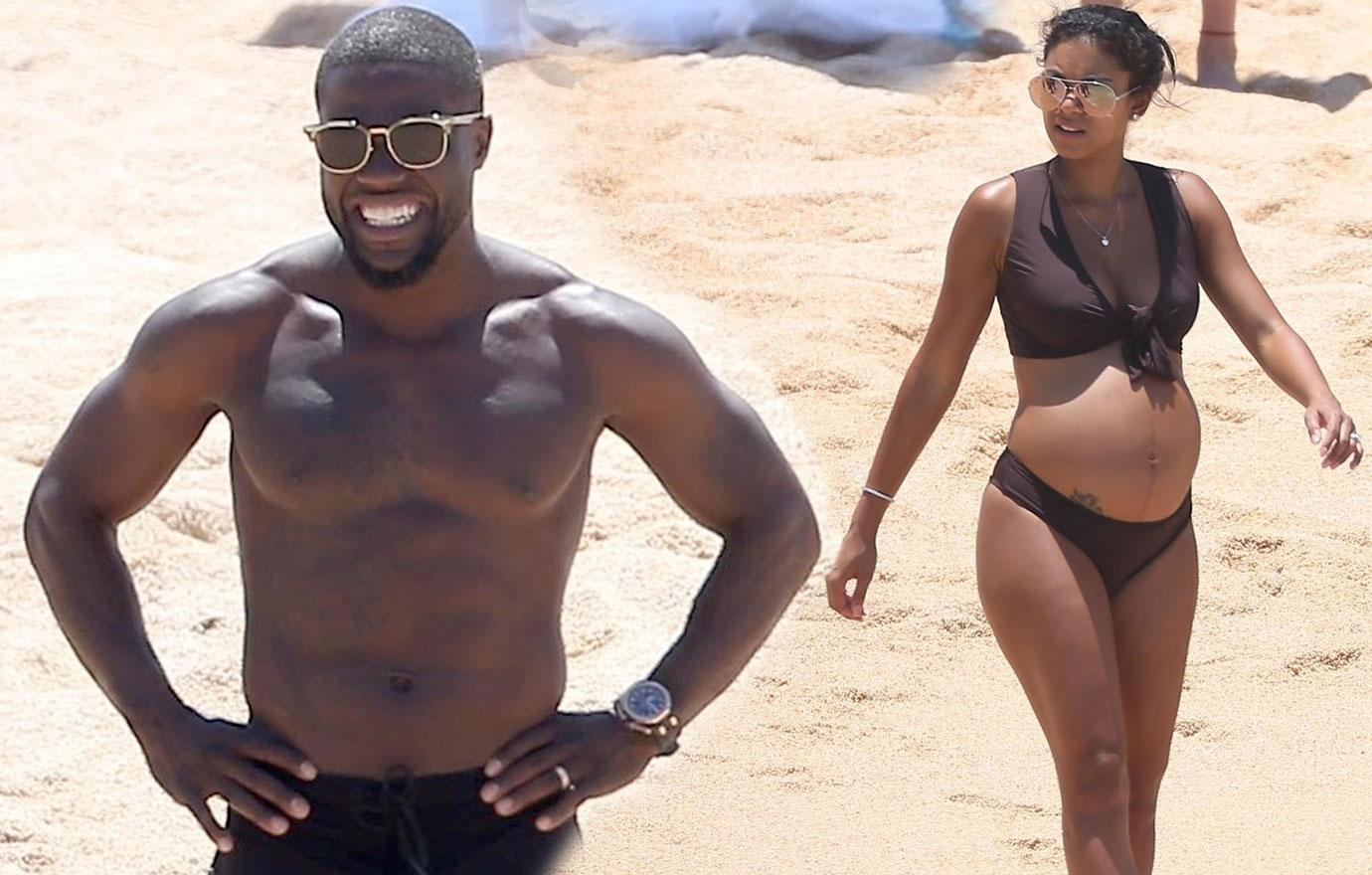 Kevin Hart pregnant Wife Eniko Parris Beach Cheating