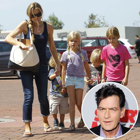 //denise richards charlie sheen kids square fameflynetgetty