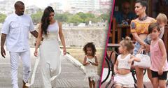 //kim kardashian kanye west north west cuba vacation filming pp