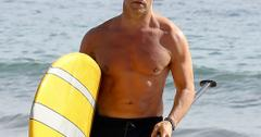 Shirtless Jeremy Piven Paddleboard