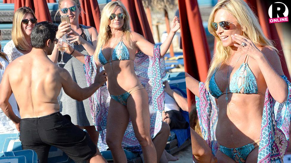 Tamra Barney Flaunts Bikini Body As Eddie Judge Applies Lotion