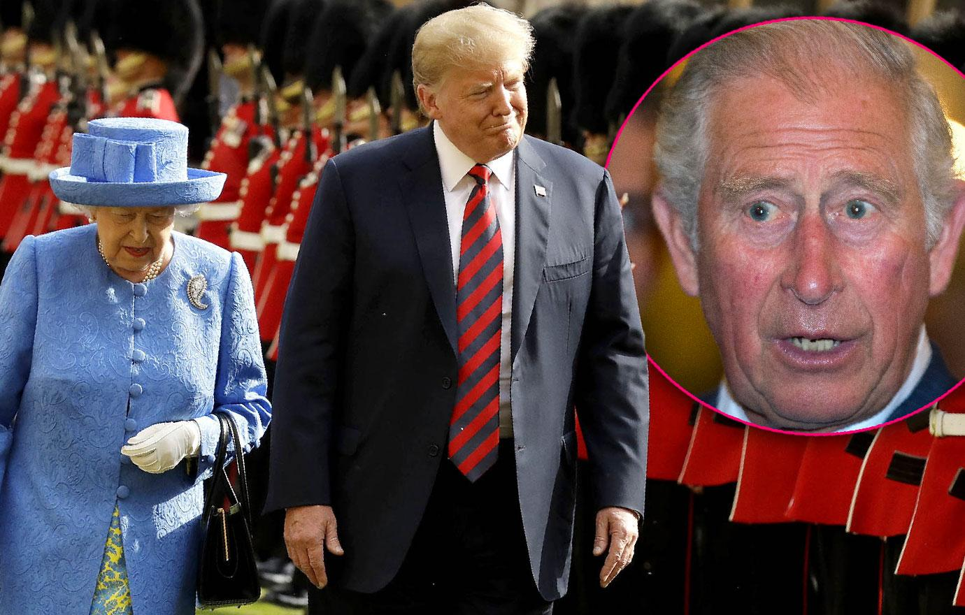 Prince Charles William Snub President Donald Trump Queen Meets Alone