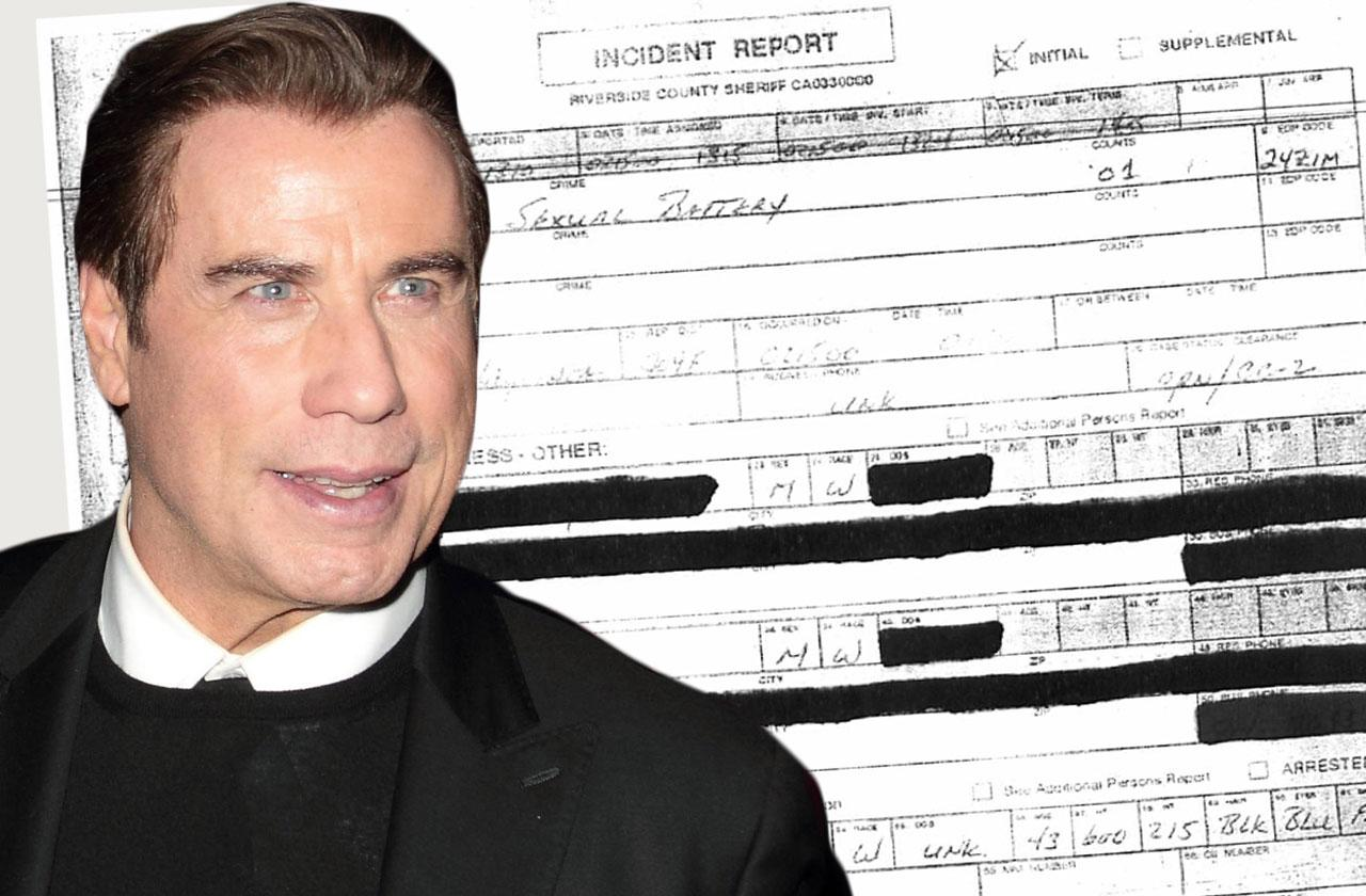 john travolta homosexual battery police report