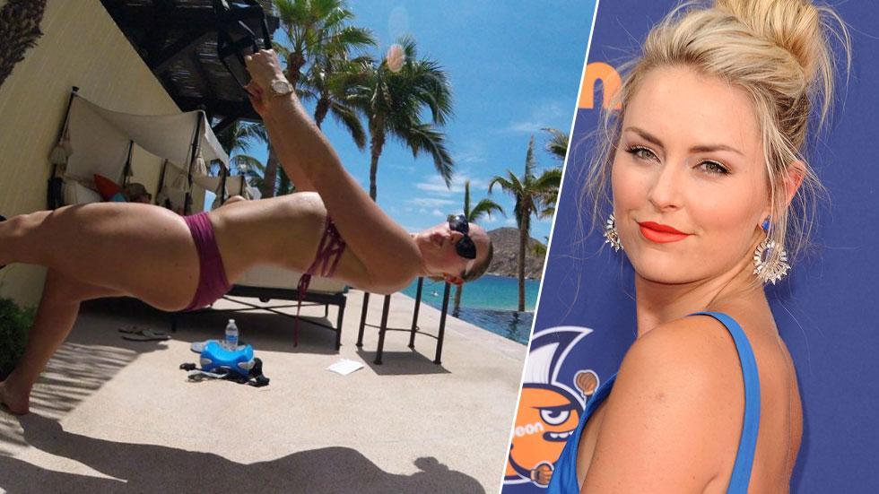 Lindsey Vonn Bikini Workout