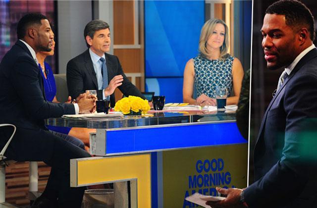 //michael strahan leaves live hosts good morning america pp