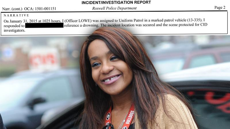 Bobbi Kristina Brown Bathtub Accident Police Report