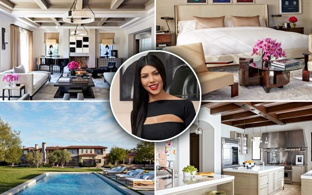 Kourtney Kardashian Home Architectural Digest