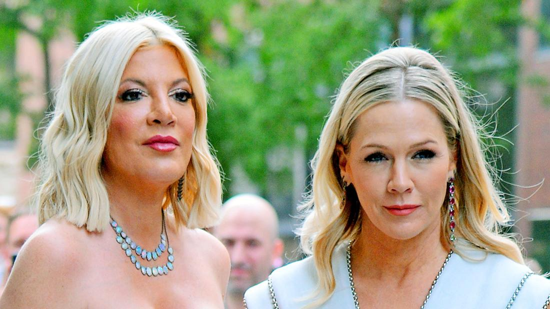 Tori Spelling and Jennie Garth Looking Serious as 4th Talk Show Canceled Amid Low Ticket Sales