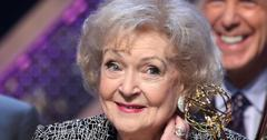 Betty white dumps mystery man