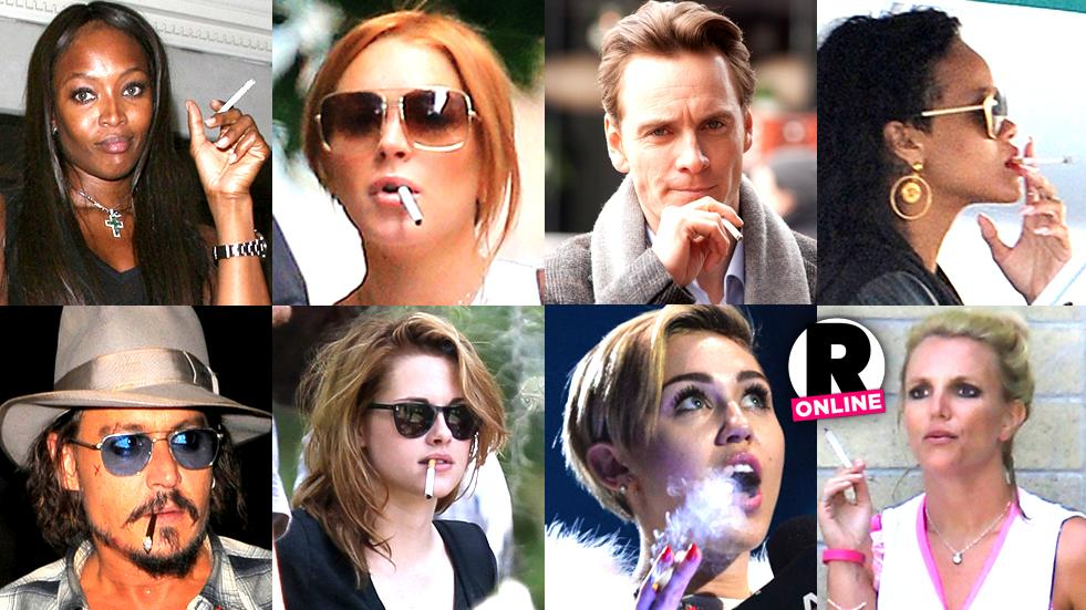 Stars who cigarettes hollywood smoke CELEBRITIES WHO