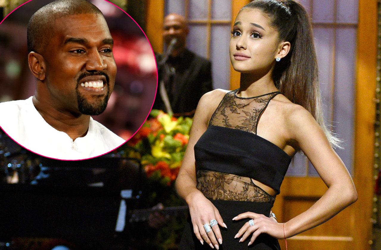 //ariana grande dropped out snl kanye west pp