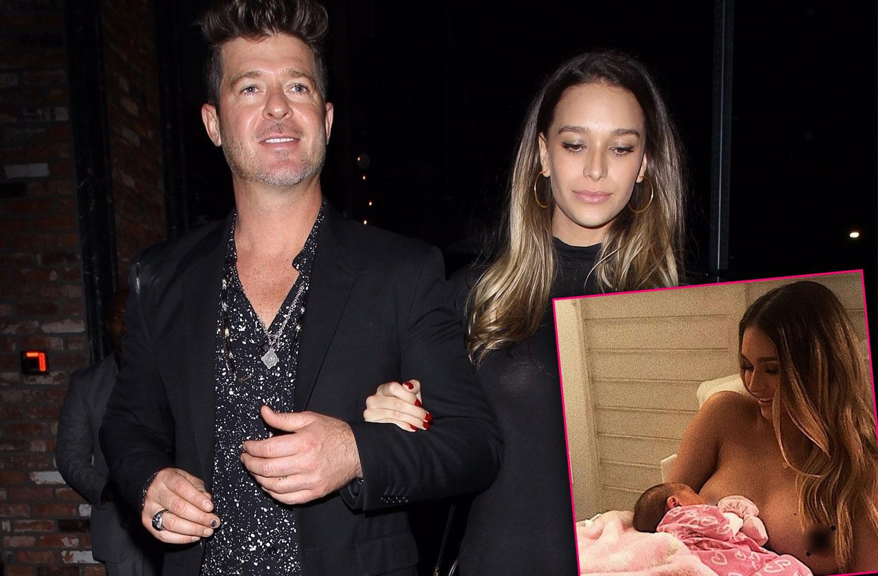 //Robin Thicke Girlfriend Bashed Breastfeeding Makeup pp