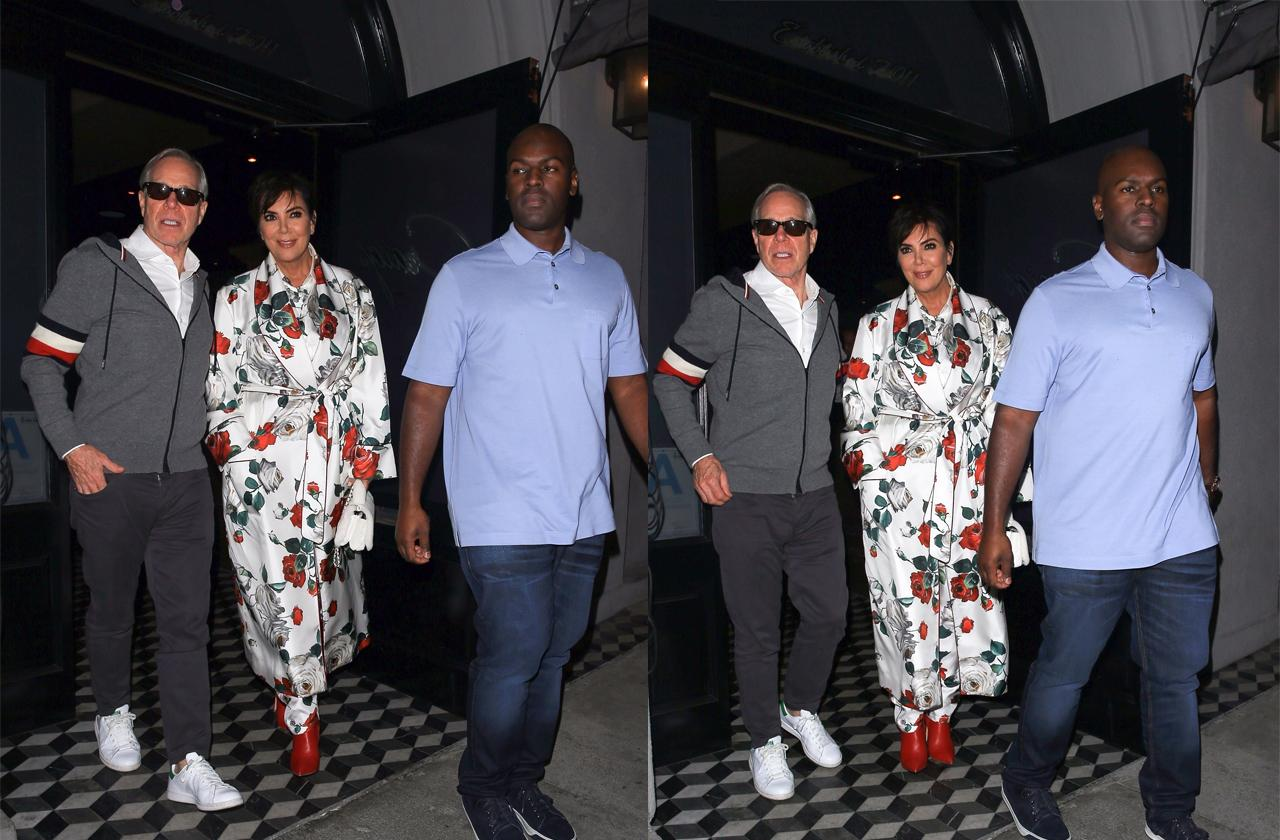 //kris jenner goes on date night with corey gamble pp