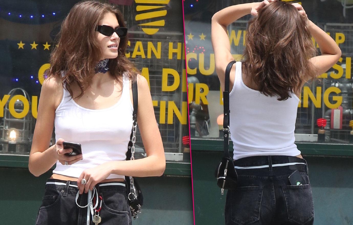 Kaia Gerber Looks Scary Skinny Photos