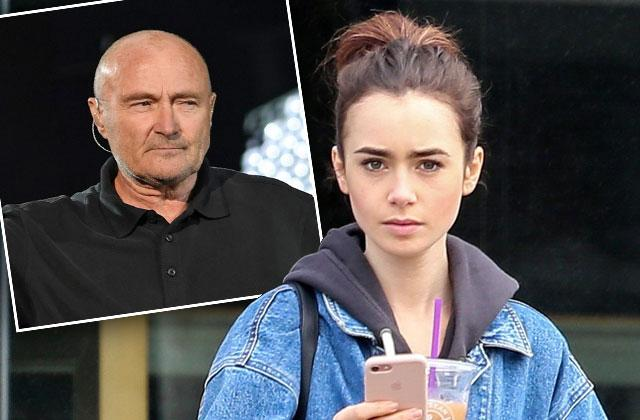 //lilly collins father phil collins alcoholism abandonment pp