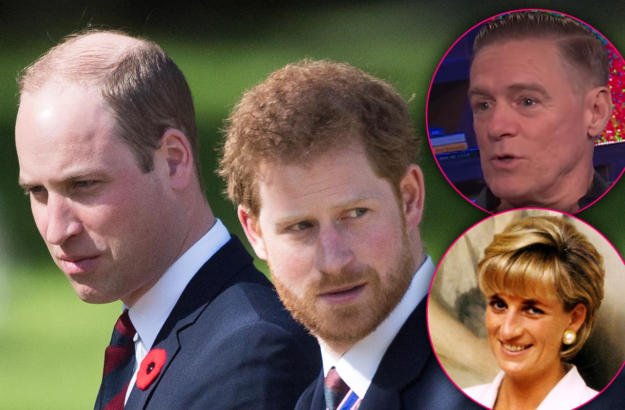 Prince William And Harry Threaten Bryan Adams Amid Rumors Of Affair With Diana