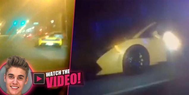 //justin bieber dui arrested arrest drag racing miami video wide