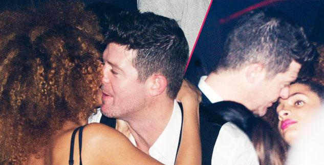 Robin Thicke Parties in paris with mystery women