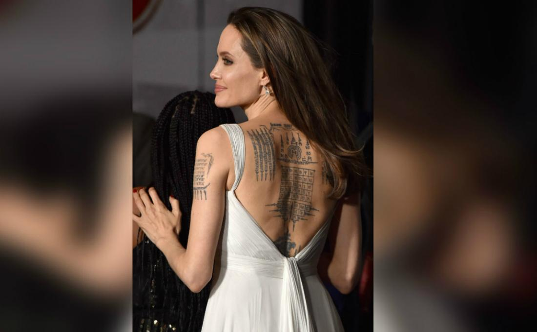 One of the most tattooed celebs, Angelina Jolie, has gotten her ink steadily over the last 20 years.