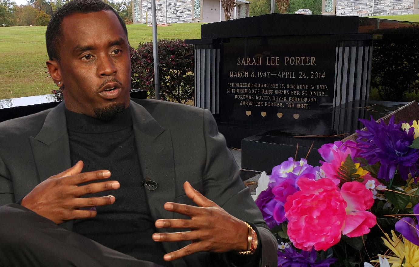 P Diddy Arrives At Ex Kim Porter's Funeral