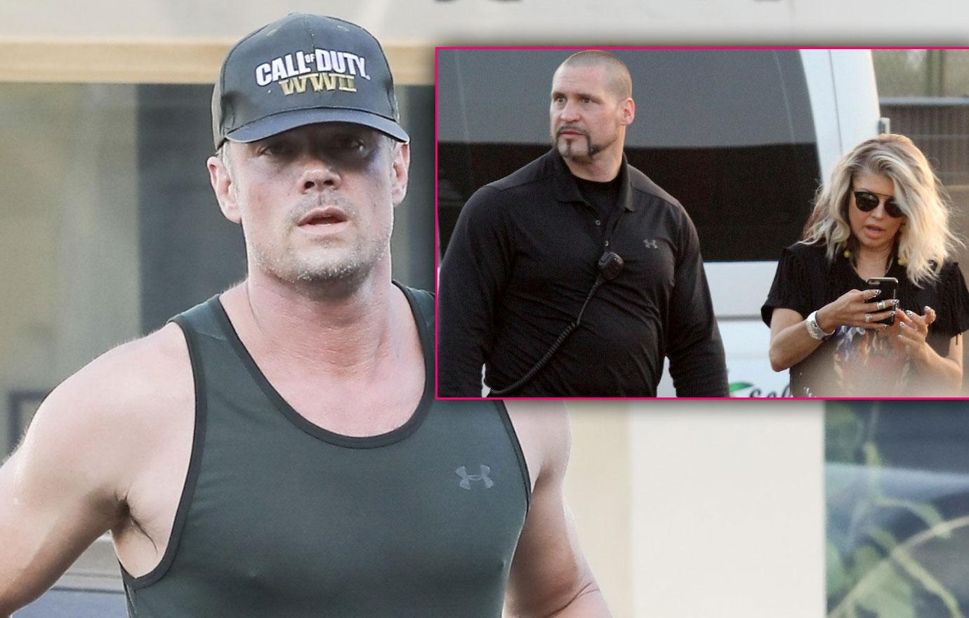Fergie With Kim Kardashian Fired Bodyguard Josh Duhamel Exercises Split