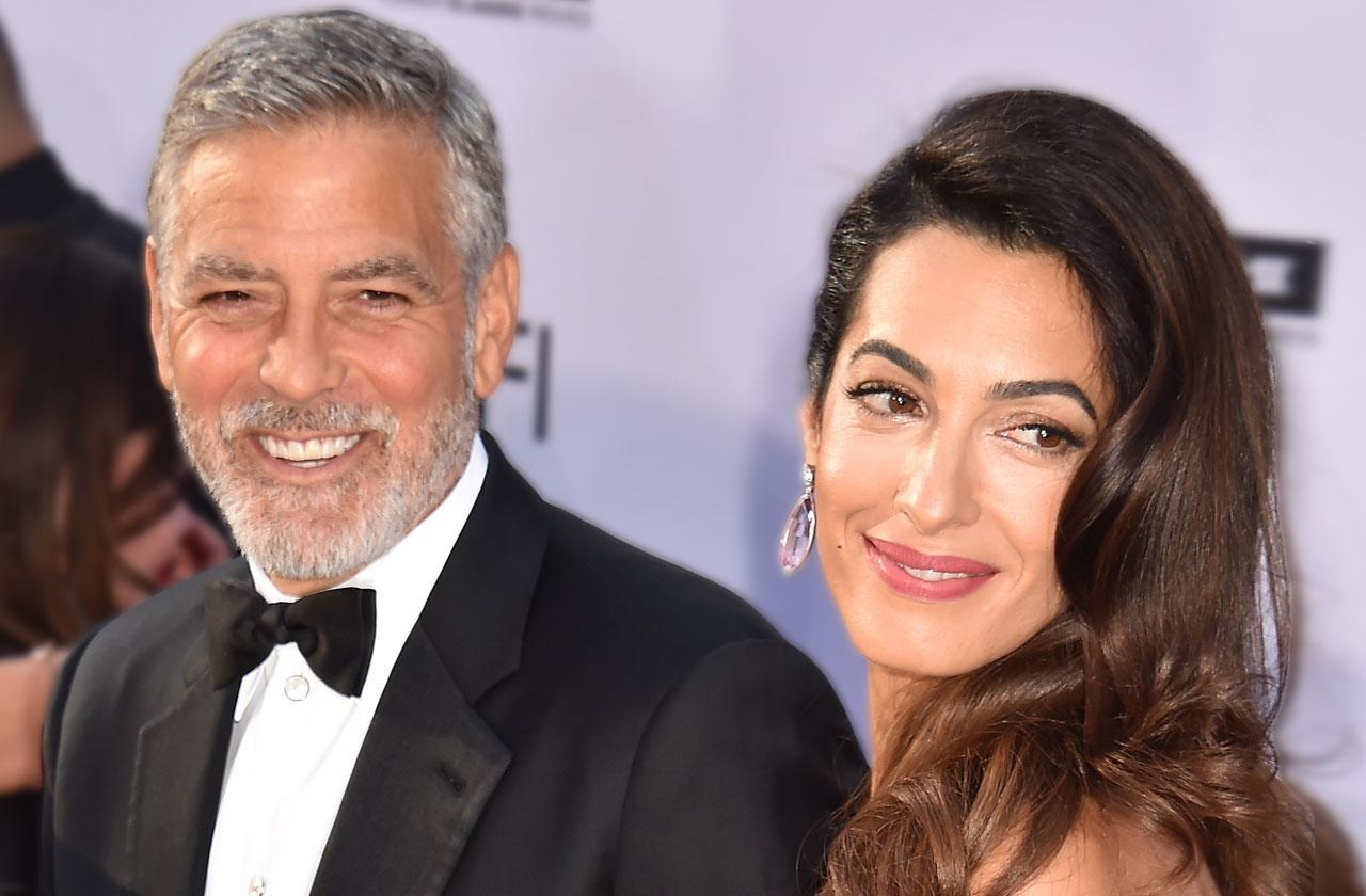 George Clooney Baby Twins Drunk Birthday